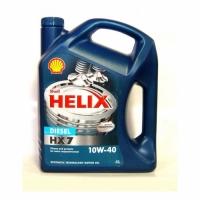 Shell Helix 10w40 Diesel HX7 Plus п/с 4л - СИНЯЯ