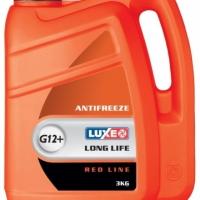 Антифриз LUXE красный G12+ 3кг RED LINE (белая канистра)
